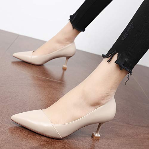 Small Pointed Temperament Women'S Heel KPHY High Thirty Shoes Single Black Simple Shoes Heel Cat Eight Feet Shallow nPf8Tfgz