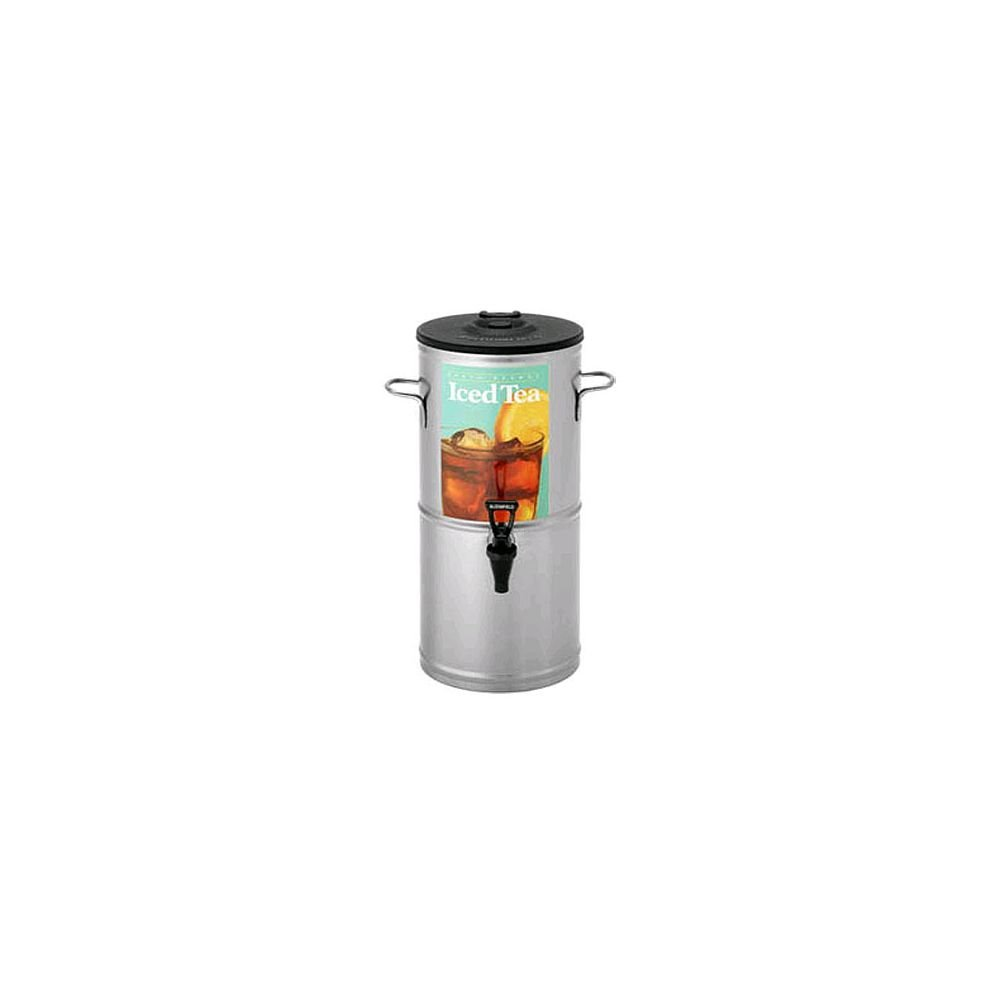 """Bloomfield 8799-3G Iced Tea Dispenser with Handles, 3-Gallon, Stainless Steel, 9"""" Depth, 19 3/8"""" Height"""