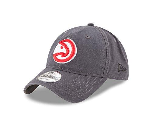 NBA Atlanta Hawks Adult Core Classic Graphite 9TWENTY Adjustable Cap, One Size, Graphite