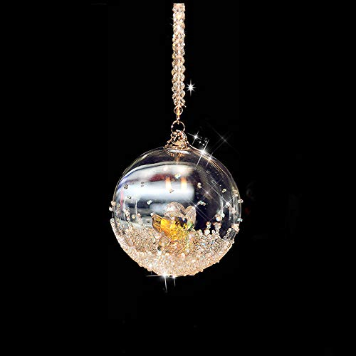 SaveStore Crystal Glass Ball with Angel Inside Christmas Ornaments Room Decoration Crafts Collection