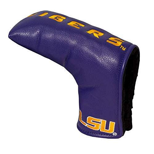 Team Golf NCAA LSU Tigers Golf Club Vintage Blade Putter Headcover, Form Fitting Design, Fits Scotty Cameron, Taylormade, Odyssey, Titleist, Ping, Callaway ()