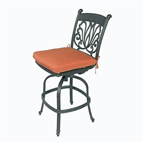 Cast Aluminum Bar stool Armless Swivel Desert Bronze - Barstool Sunbrella Cushions (Fruniture Patio)