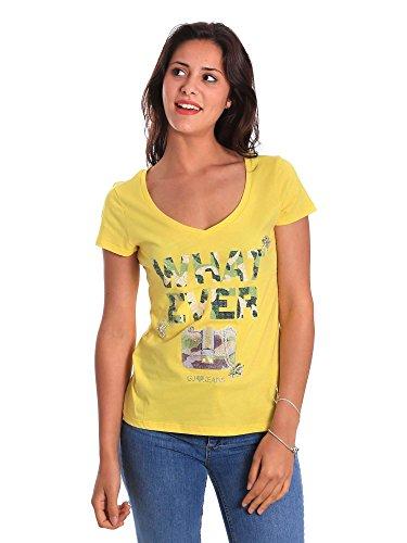 Gaudi shirt 811BD64056 M Donna Giallo T jeans rRfwxqr