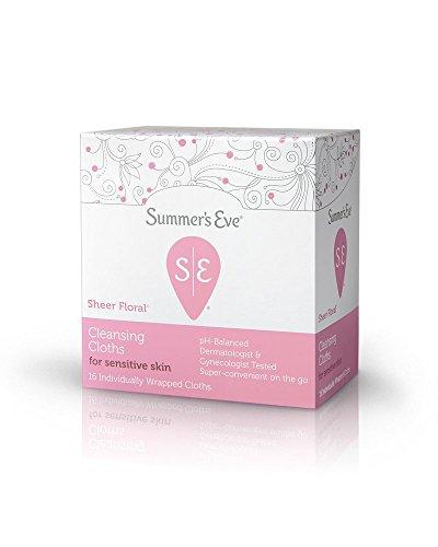 Summer's Eve Feminine Cleansing Cloths For Sensitive Skin Sheer Floral, 16 - Warehouse Clothes Shop