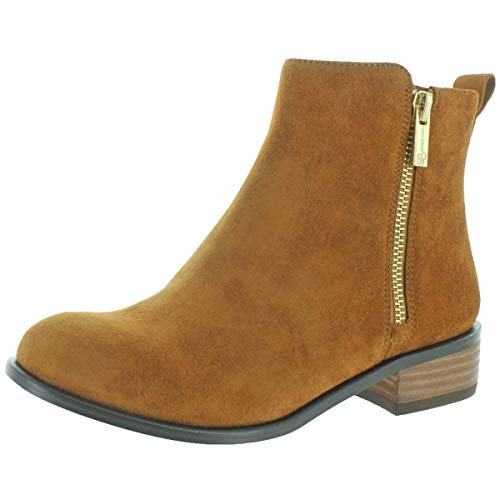 Jessica Simpson Kesaria Casual Leather Booties Brown Size 9 (Wedge Suede Womens Sheepskin)