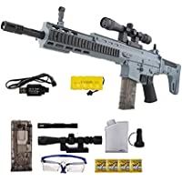 IndusBay® 34 Inches Long Fully Automatic Army Style HydroGel Scar Assault Rifle Toy Gun with Continuous Shooting Crystal Water Bullets.