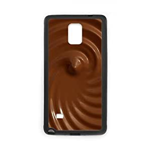Sexyass Chocolate Textures Cases For Samsung Galaxy Note 4 Protector, Samsung Galaxy Note 4 Cases For Women Hard For Girls With Black