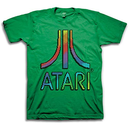 Atari Mens Classic Gaming Shirt - Throwback Vintage Video Game Tee (M)