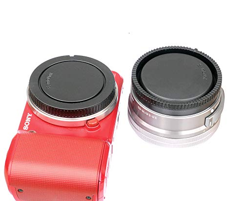 (2 Packs) E Mount Rear Back Lens Cap Body Cap, Sony EMount Camera Lens Cover Body Cap, FE Lens Cap fits NEX5T NEX-6 NEX…