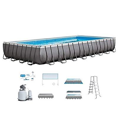 Intex Ultra Frame Rectangular Pool Set with Sand Filter Pump