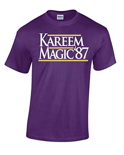 Magic Johnson La Lakers - WB SHIRTS Purple Los Angeles Magic Kareem 87