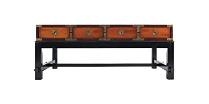 Bombay Salon Table, Honey   Solid Wood Coffee, Lounge And End Tables With  Glass