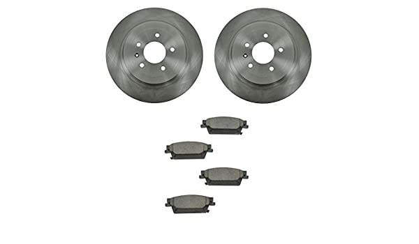 Rear Drilled /& Slotted Brake Rotors And Ceramic Pads For Cadillac CTS STS JE5