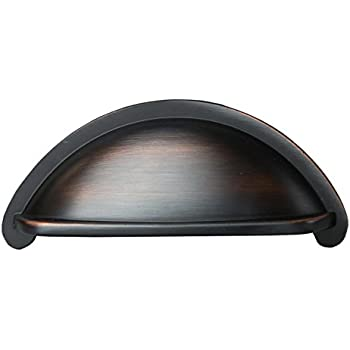 Oil Rubbed Bronze Kitchen Cabinet Pulls - 3 Inch Bin Cup Drawer ...