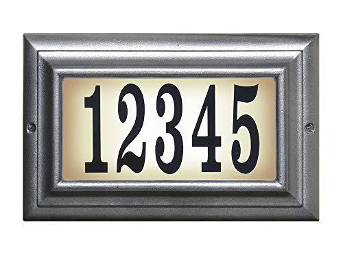 [해외]퀄 아크 i n c .에 우드 표준 조명 주소 플 라크 백 랍 LTS-1300-PW / Qualarc Inc. Edgewood Standard Lighted Address Plaque Pewter LTS-1300-PW