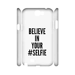3D Believe In Your Selfie Cases For Samsung Galaxy Note 2 White