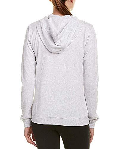 Nike Womens Gym Classic Full Zip Hooded Sweatshirt Birch Heather/Sail 924081-051 Size Small
