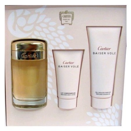 Cartier Baiser Vole by Cartier for Women 3 Piece Set Includes: 3.3 oz Eau de Parfum Spray + 1.6 oz Body Lotion... ()
