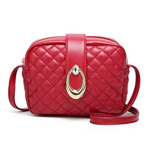 Kervinzhang Femenina Red Bolsa Cuadrada De color Coreana Bandolera Marea Bolso Moda Lingge Pequeña Versión La Red Diagonal Zr7Zwq