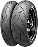 Continental Conti Sport Attack 2 Tire - Rear - 160/60ZR-17 , Position: Rear, Tire Size: 160/60-17, Rim Size: 17, Load Rating: 69, Speed Rating: (W), Tire Type: Street, Tire Construction: Radial, Tire Application: Race 02440090000