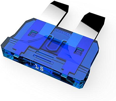 40A Fusibili Lamellari selezione AUPROTEC Fusibile Standard ATO 1A 15A Ampere blu-azzurro 25 pezzi