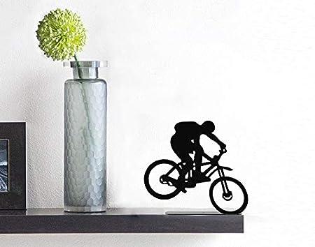 ARTORI Design Extreme Bike Rider Bicyclist Black Metal Figurine Statuette Bicycle Shelf Decoration AD290