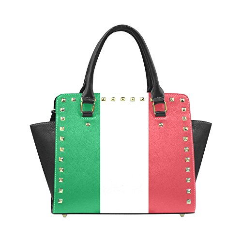 ADE Fashion Custom Flag of Italy Rivet Shoulder Handbag Classic Studded Bag Top-Handle Bag M1645 by Artsadd