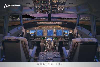 Amazon com: 737 Flight Deck Poster: Prints: Posters & Prints