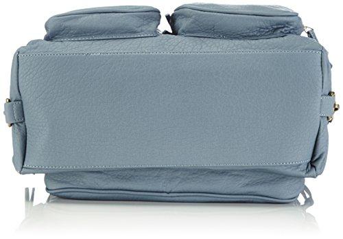 Rieker H1002 - Bolso de mano de material sintético mujer gris - Grau (stahl / 42)