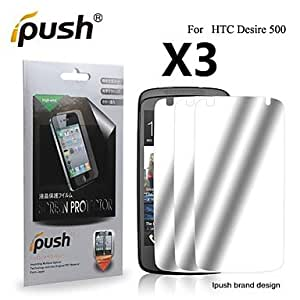 High Transparency Mirror LCD Screen Protector for HTC Desire 500 (3 Pieces)