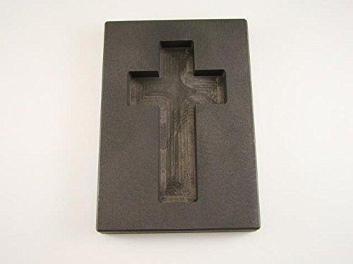 (7.5 oz Custom Cross Gold High Density Graphite Mold 4 oz Silver Necklace 3-1/4