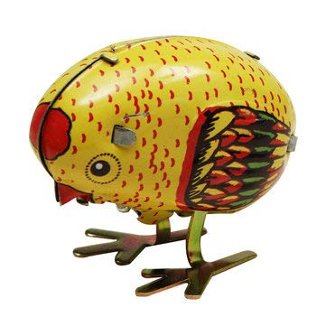 Classic Retro Toys Wind-up Tin Toys - Wind Up Chick Tin Toy Clockwork Spring Pecking Chick Vintage Style