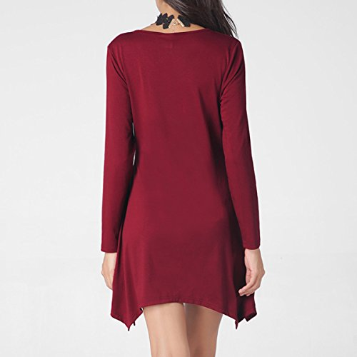 Verano Ropa De Mujer El Temperamento La Moda Color Sólido Rojo Negro Verde Vestido Red