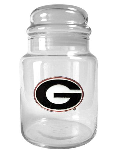NCAA Georgia Bulldogs 31-Ounce Glass Candy Jar - Primary Logo