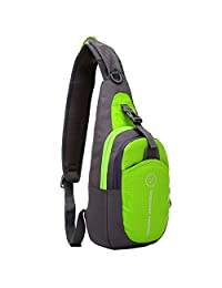 Shoulder Backpack Casual Cross Body Bag Outdoor Sling Bag Chest Pack with Adjustable Shoulder Strap for Cycling Hiking Camping Travel and Men Women