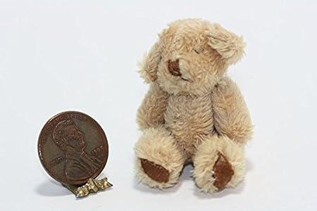 Tiny Orange Suede Thimble Bear World of Miniature Bears Dollhouse Miniatures