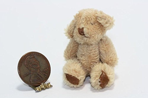 Dollhouse Miniature Super Soft Brown Teddy Bear from Dollhouse Miniature