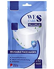 [5Pcs] Wes Care NanoMask Reusable | Made in Singapore | UV Clean, Soft & Comfortable, Easy to Breathe, Convenient Pack