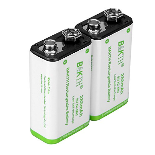 BAKTH-9V-Advanced-NiMH-Battery-9-Volt-280mAh-Highest-Performance-Low-Self-Discharge-Rechargeable-Batteries