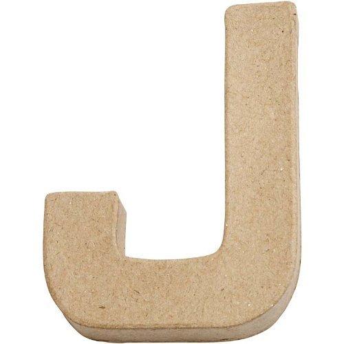 Pappmache-Buchstabe J 10cm hoch zum Selbstgestalten BUDILA®