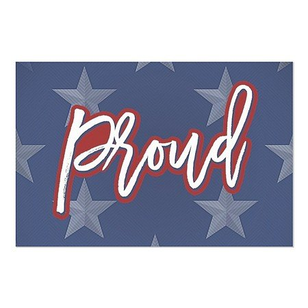 CGSignLab | ''Proud'' Repositionable Opaque White 1st Surface Static-Cling Non-Adhesive Window Decal (5-Pack) | 36''x24'' by CGSignLab