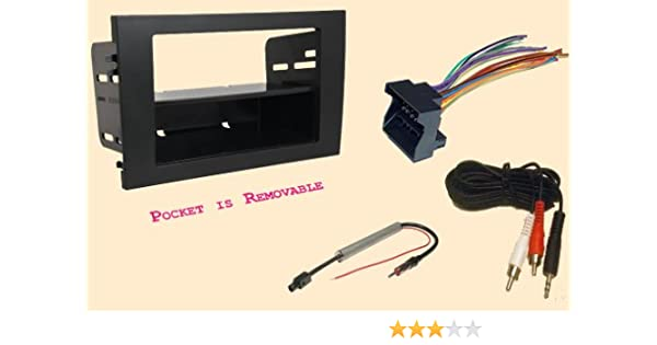 Single Din Dash Kit for Car Radio Stereo Install Replace with Wire Harness