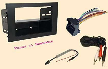 radio stereo install double or single din dash kit wire harness antenna adapter for audi a4 and rs4 2002 2003 2004 2005 2006 2007 2008 2000 Audi A4 Interior
