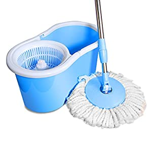 Amazon Com Ohuhu Easy Wring Spin Mop And Bucket System