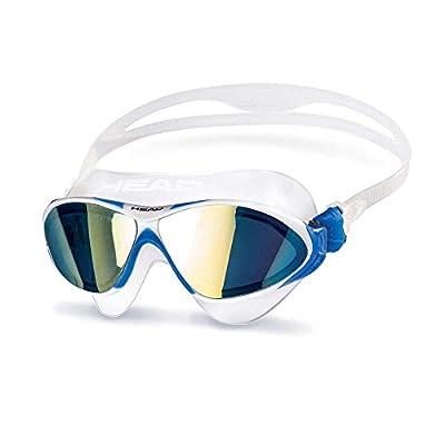 Tête Horizon Lunettes de natation Verres effet miroir–– Transparent/Blanc/Bleu