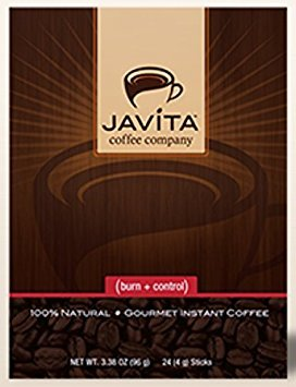 Javita (burn + control) Gourmet Instant Coffee for Weight Loss (Basic Kit - 2 boxes), 3.8 OZ each by Javita Coffee Company