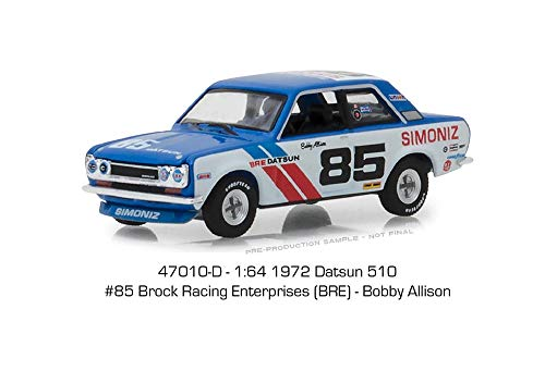 - 1972 Datsun 510 BRE #85 Bobby Allison Tokyo Torque Series 3 1/64 Diecast Model Car by Greenlight 47010 D