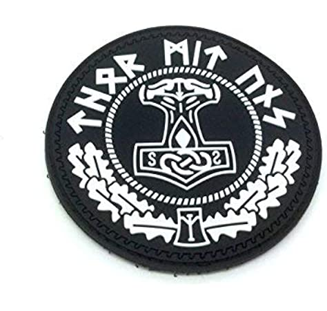 Thors Hammer Mjolnir Viking PVC Airsoft Paintball Patch: Amazon.es: Deportes y aire libre