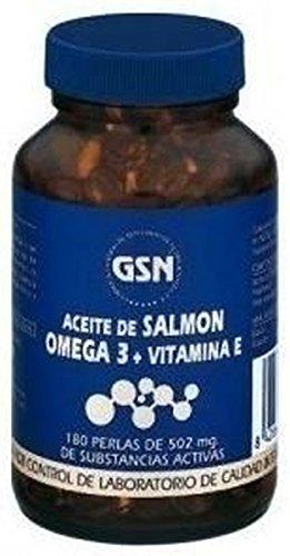 Aceite Salmón Omega 3 y Vitamina E 180 perlas de 500 mg de Gsn: Amazon.es: Salud y cuidado personal