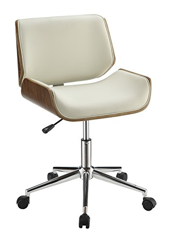 Coaster Home Furnishings Adjustable Height Office Chair Ecru and Chrome